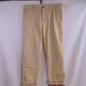 J. Crew Flex Flannel lined pants 34x32